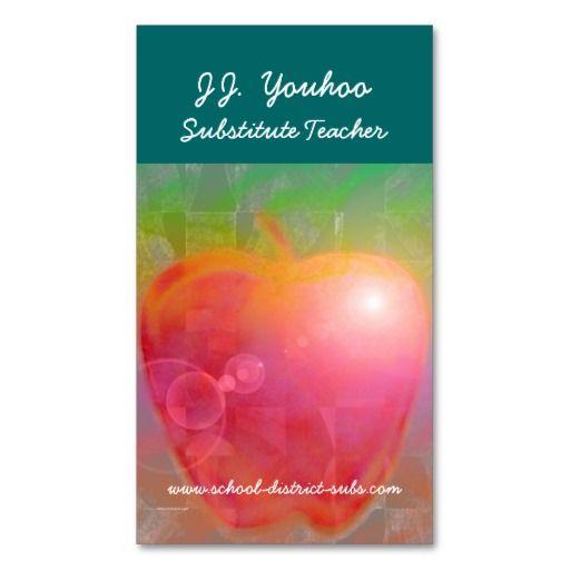 Best Teacher Business Cards Ideas On Pinterest Back To - Substitute teacher business card template