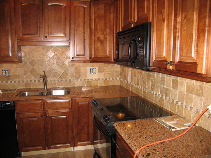 Orange tile backsplash for smart kitchen stunning for Cheyenne kitchen cabinets lowes