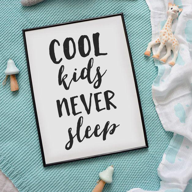 Plakat - Cool kids never sleep A3