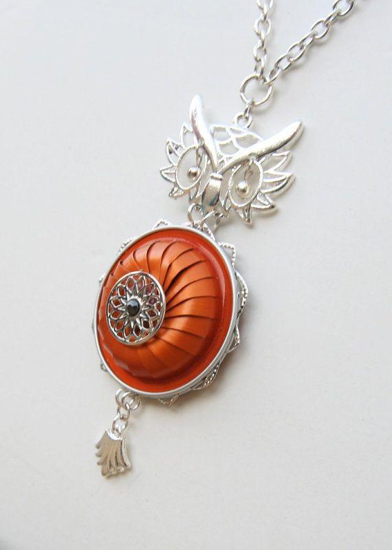 Collar de búho mixta joyas de Nespresso reciclar por AngelaDesign