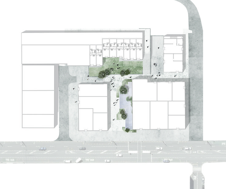 Drummond Street backyard masterplan