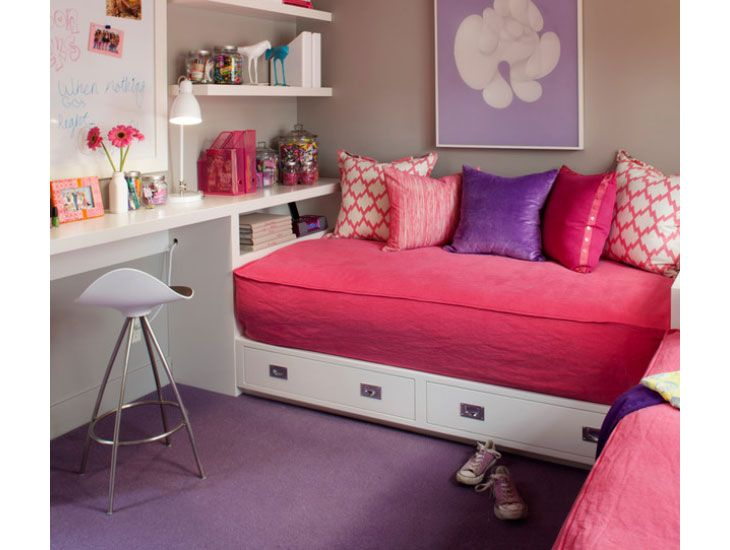 DIY Home Decor Ideas - Corner bed with study desk - Click Pic for 18 Decor Ideas for Girls Rooms