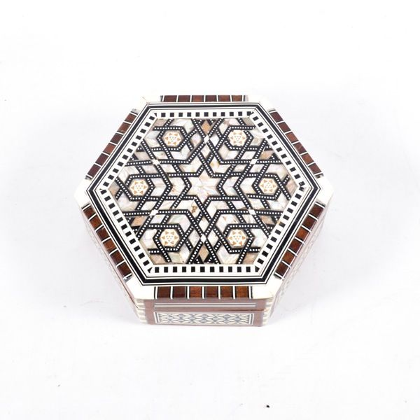 Egyptian Mother of Pearl & Paua Shell Inlaid Handmade Box #EBTH
