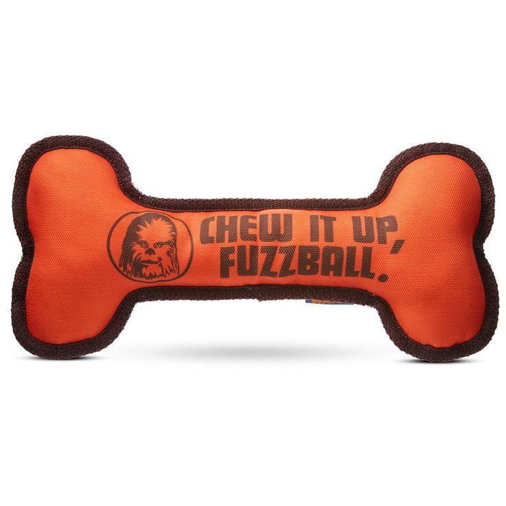 STAR WARS Bone Dog Toy - Chew it up, fuzzball dog bone toy. Great for toss and fetch. - http://www.petco.com/shop/en/petcostore/star-wars-bone-dog-toy