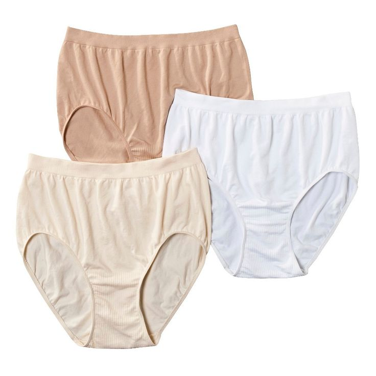 Beauty by Bali Women's Briefs BT40WP 3-Pack (Colors May Vary) - M,