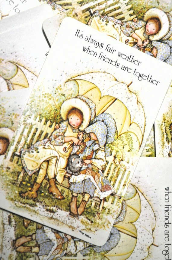 Vintage Holly Hobbie & Amy Playing Cards