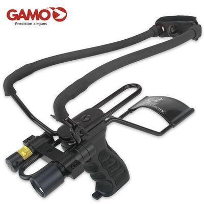 Gamo Bone Collector Slingshot With Laser And Light