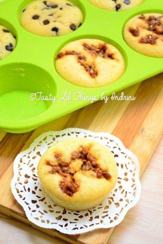 Cupcake from my savory pancake batter #homemade #baking