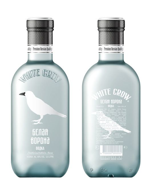 white alcohol packaging design | White Crow it's Russian premium vodka. Vodka for those who goes its ...