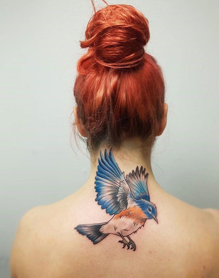 25 Bird Tattoos That Ll Make You Fly Straight To The Tattoo Chair Tattoos Birds Tattoo Neck Tattoo