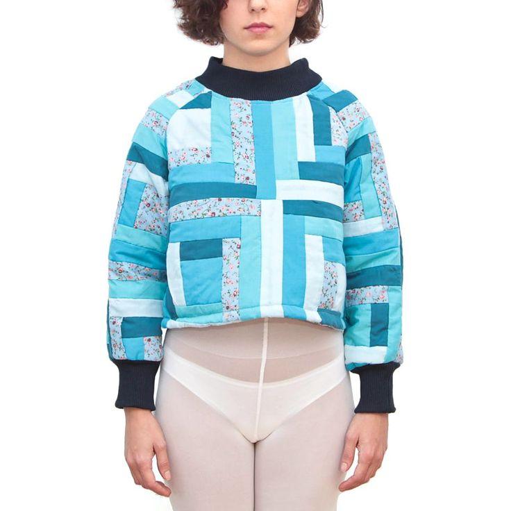 Jarapa Jarapa - Sudadera chica patchwork azul
