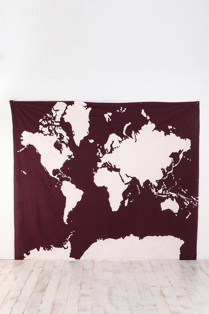 http://www.2uidea.com/category/Tapestry/ Atlas Tapestry ($39, Urban Outfitters) - love this, so many uses! *stretched over a canvas*