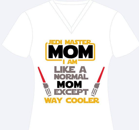 Jedi Master Mom I Am Shirt Star Wars Jedi by ChicDesignsStudio