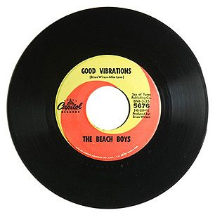 "The Beach Boys, 'Good Vibrations' ~ Writers: Brian Wilson, Mike Love;  Released: Oct. '66, Capitol 14 weeks; No. 1 ~  ""Good Vibrations"" became the Beach Boys' third Number One hit, but it was a short window of glory."