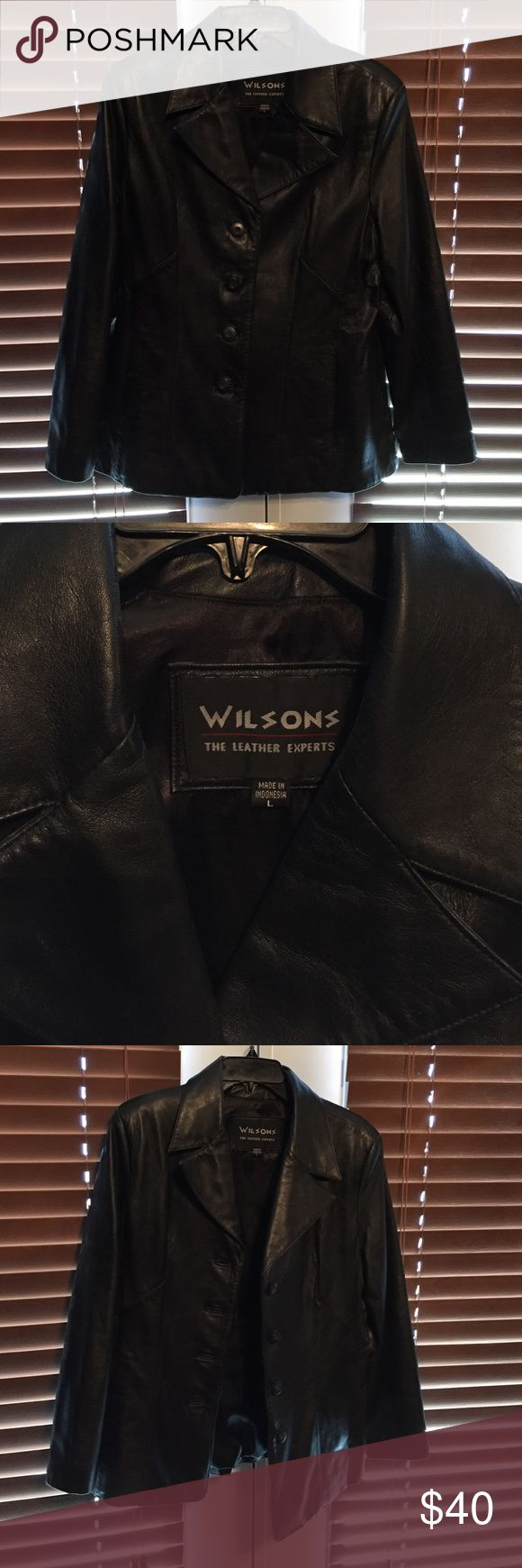 Female Leather Jacket Outershell 100% Leather. Lining 100% Poly Satin. 100% Nylon. I'm perfect condition Wilsons Leather Jackets & Coats