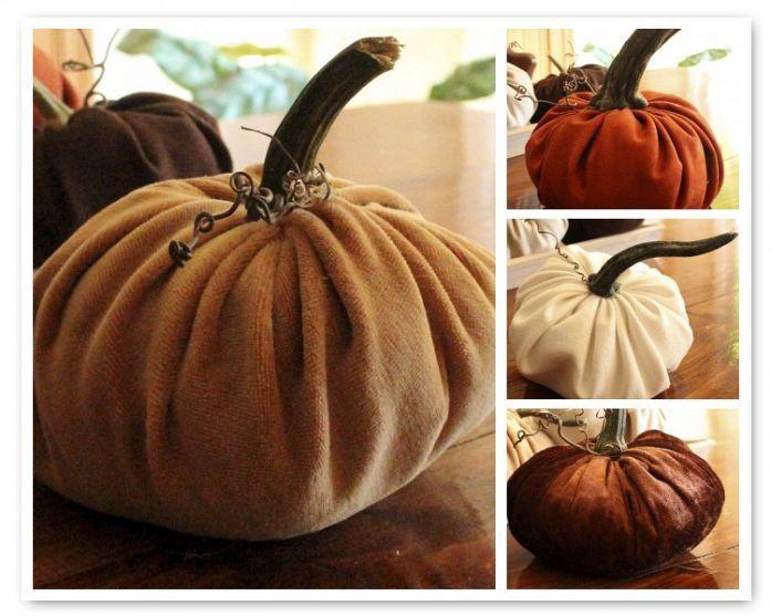 DIY::: Super Inexpensive Plush Pumpkins Tutorial