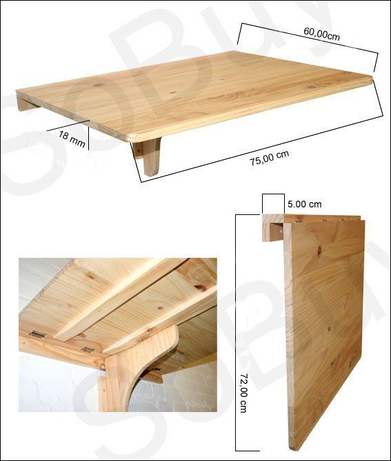 Wall table DIY....this look ridiculously easy to make. Such a great idea!