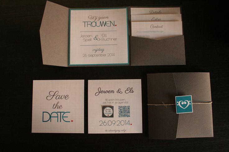 Trouwkaart en save-the-date-kaart