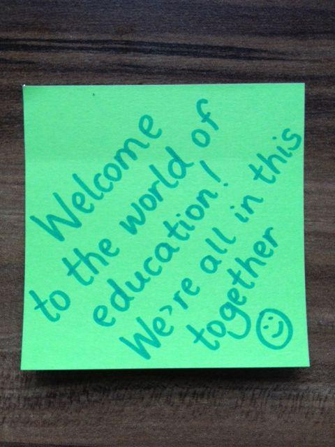 A Welcome Note to New Teachers - Inspired by Burcu Akyol (@Burcu Akyol)