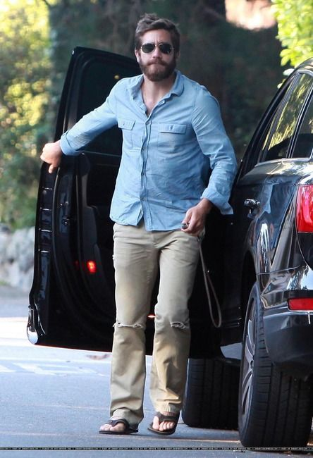 Jake Gyllenhaal And Rainbow Sandals Photograph Famous