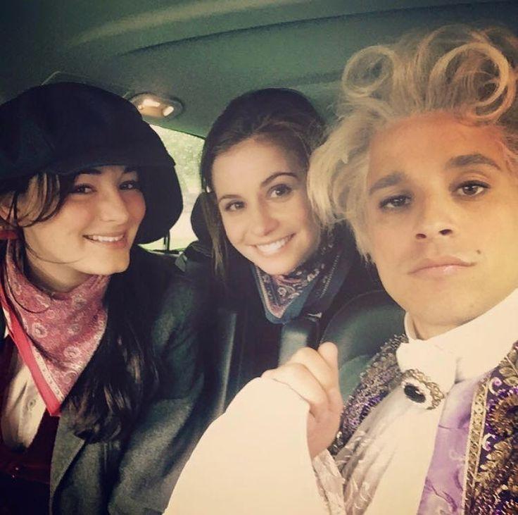 Smaragdgrün - Gwendolyn (Maria Ehrich), Lucy (Josefine Preuß) & James (Kostja Ullmann)   Behind the scenes