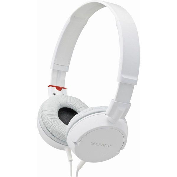 Sony White Swivel Folding Monitor Headphones New 12-22K Hz #Sony