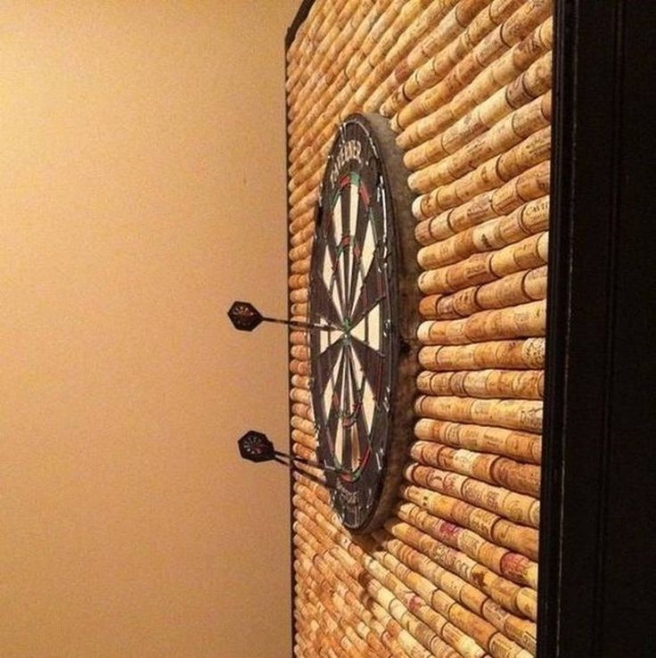 Hey it's #WineWednesday start collecting those corks! How awesome would this be behind a dart board to protect your wall from stray darts.