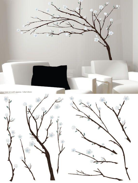Art Applique Branches Wall Sticker - Wall Sticker Outlet