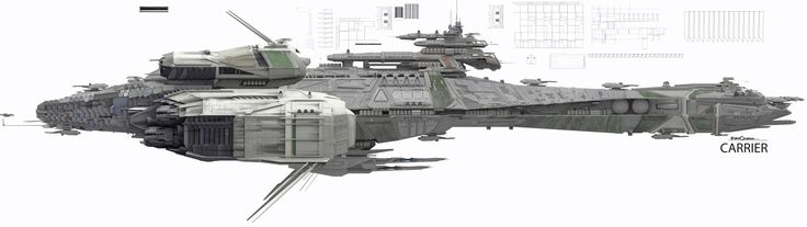 The Art Behind Star Citizen, Space Gaming's Triumphant Return by 'Wing Commander's Chris Roberts; [Battle Carrier]