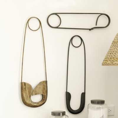 Safety Pins for the laundry wall