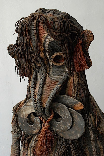 Detail from a New Guinea Woven Dance Masks, Middle Sepik | Pigmented weaving, raffia and other materials