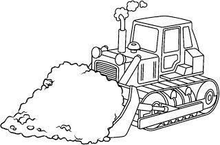 Un bulldozer.