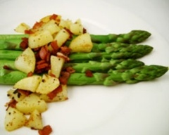 Asparagus with crispy bacon and potatoBest Recipe