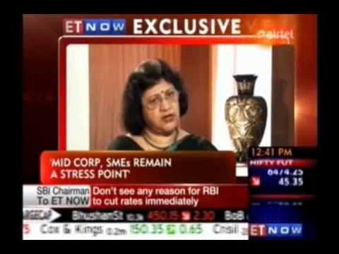 Interview of SBI Chairman, Mrs. Arundhati Bhattacharya with ET Now