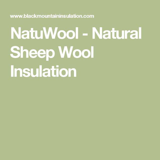 NatuWool - Natural Sheep Wool Insulation
