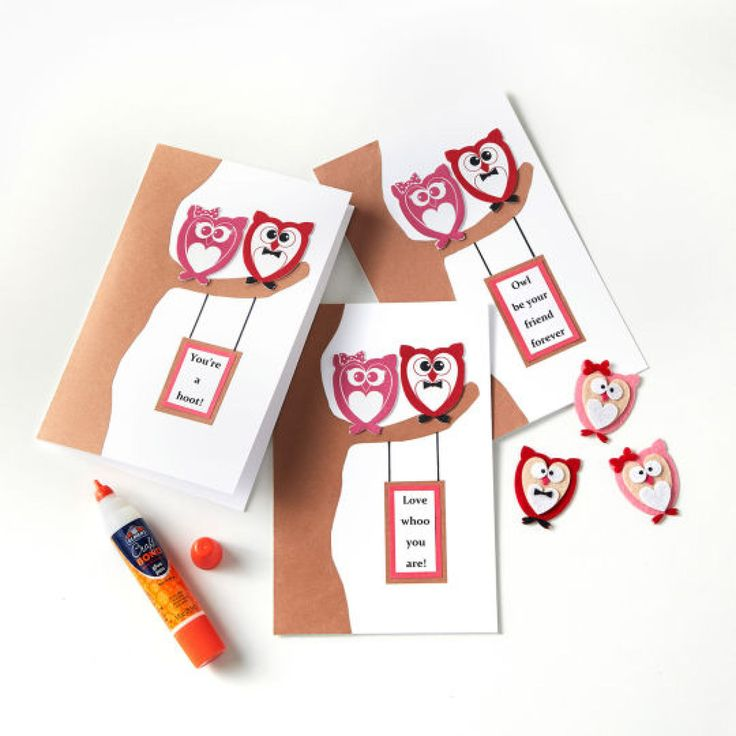 """DIY """"Owl Be Your Friend Forever"""" Valentine's Day Card"""