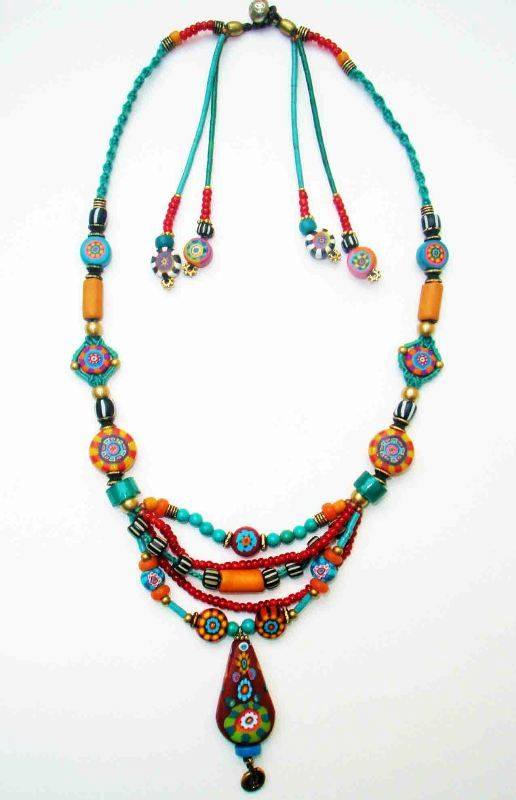 ~ Fimo handmade bead necklace ~ | Aow Dusdee | Flickr
