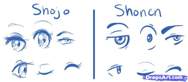How to Draw Manga Eyes, Step by Step, Anime Eyes, Anime, Draw ...
