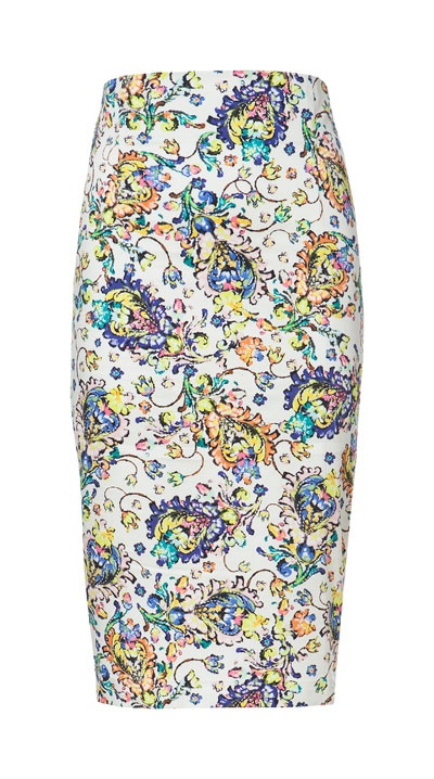 Image 7 of PRINTED PENCIL SKIRT from Zara