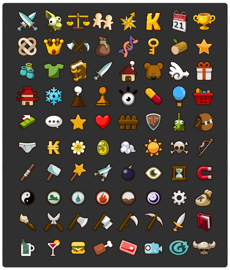 game ui icons app