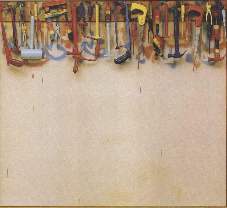Vijf voet aan gekleurd gereedschap ~ 1962 ~ Olieverf op doek met objecten ~ 141,2 x 152,9 x 11 cm. ~ The Museum of Modern Art ~ Verzameling Sidney en Harriet Janis ~ © Jim Dine