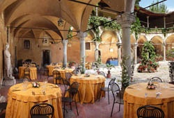 Figline Valdarno. We dined in this very restaurant the name of which escapes me but it was an excellent meal.