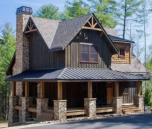 Plan 18733ck wrap around porch mountain vacations for Craftsman log home plans