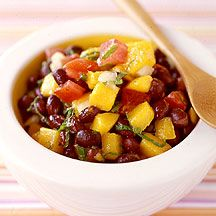 Black Bean Mango Tomato Salad. One of my all-time favorite things. Delicious, vegan, delicious. Plus, it's a Weight Watcher's Recipe...so you can't go wrong here.