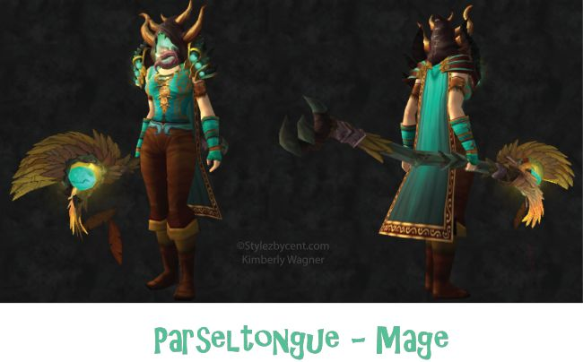 Parseltongue #mage #transmog for #worldofwarcraft.  Check out my blog for more awesome transmogs! stylezbycent.com #wow @World of Warcraft Pins @Arts and Warcrafts