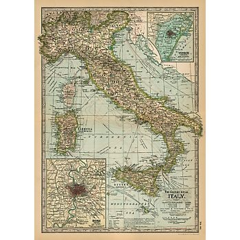 100 best world map images by kay on pinterest antique maps map of italy wrapping paper or i put it in a frame and gumiabroncs Gallery