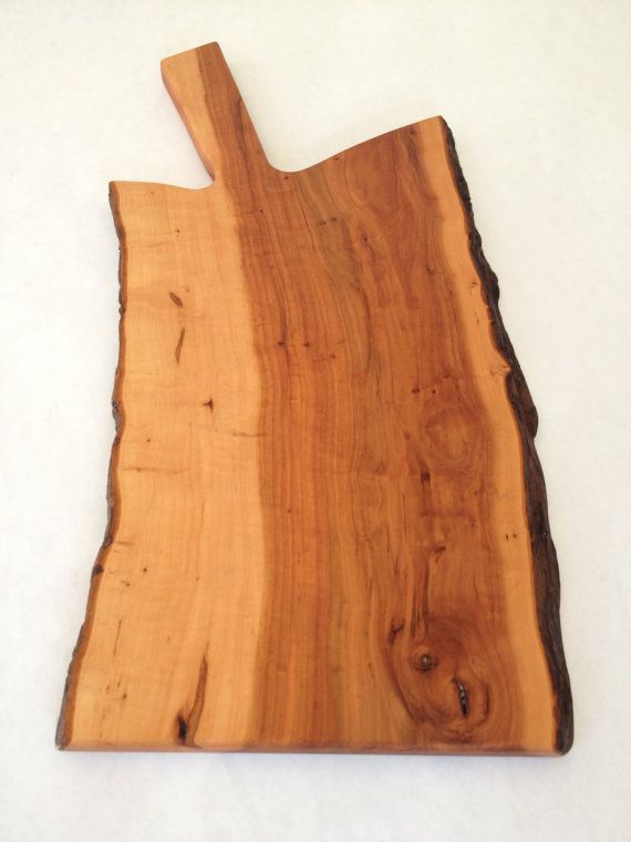 Apple wood live edge cutting board. by BenWhitbeck on Etsy
