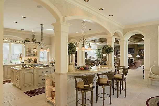 column in kitchen | Here is a picture of columns and an island. NOT my kitchen, but don't ...