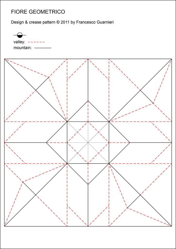 Fiore geometrico - Geometric Flower (Crease Pattern)