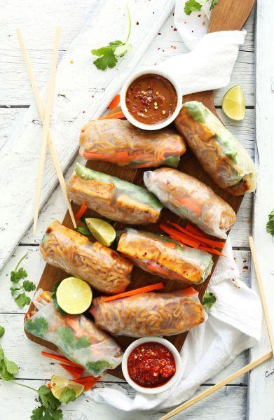 Pad Thai Spring Rolls | Minimalist Baker Recipes) - A collection of vegan recipes